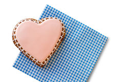 Top view of heart cookie. Stock Photos