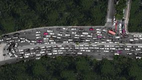 Heavy traffic at the peak hour Royalty Free Stock Photo