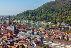 Top view of the Heidelberg,Germany Stock Photo