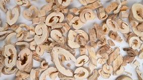 Top view herb BaiXianPi or Dictamni Cortex or Denesefruit Pittany Root - bark rotating