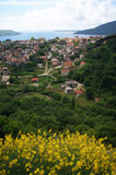 Top view of Herceg Novi. Top view of the town of Herceg Novi (Montenegro) in the summer royalty free stock photo