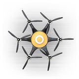 Top view of hexacopter with carbon fiber cover Stock Photos