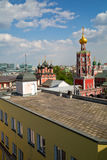 Top view of high Monastery of St Peter. Moscow, Russia. Stock Image