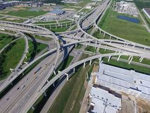 Top View Highway 10 Katy Freeway And Massive Interchange Stock Images