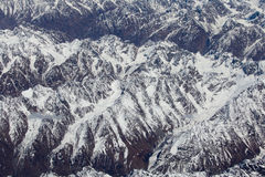 Top view of the Himalayan mountains in Tibet Stock Photography
