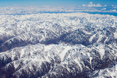 Top view of the Himalayan mountains in Tibet Royalty Free Stock Images