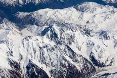 Top view of the Himalayan mountains in Tibet Stock Photos