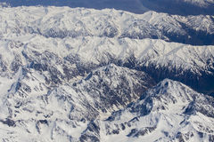 Top view of the Himalayan mountains in Tibet Stock Photo