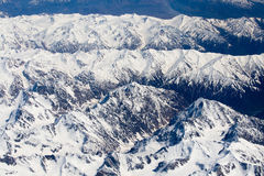 Top view of the Himalayan mountains in Tibet Stock Image