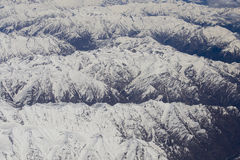 Top view of the Himalayan mountains in Tibet Royalty Free Stock Photo