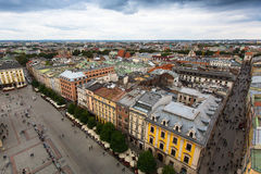 Top view of a historic buildings in the Old Sity. Stock Photography