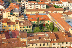 Top view of the historic center of Florence Royalty Free Stock Image