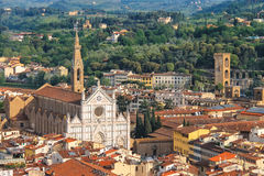 Top view of the historic center of Florence Stock Photography