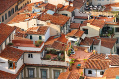 Top view of the historic center of Florence Royalty Free Stock Photo