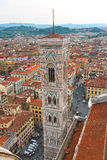 Top view of the historic center of Florence, Italy Stock Image