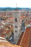 Top view of the historic center of Florence, Italy Royalty Free Stock Image