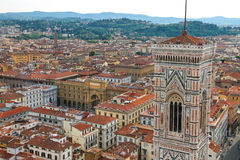 Top view of the historic center of Florence, Italy Stock Images