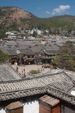 Top view of historic town of Lijiang Dayan Old Town. Stock Photo