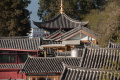 Top view of historic town of Lijiang Dayan Old Town. Stock Images