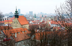 Top view on the historical center of Bratislava Stock Image