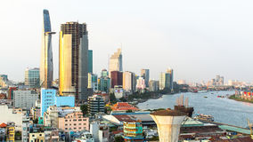 Top view of Ho Chi Minh City. Ho Chi Minh Stock Photography