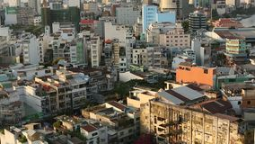 Top view of Ho Chi Minh City. stock video footage