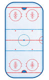 Top view of hockey rink. Top view of hockey rink complete with skate marks on the ice Royalty Free Stock Photo