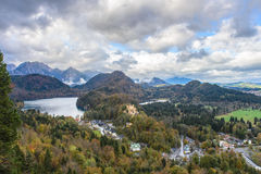 Top view of Hohenschwangau castle Royalty Free Stock Photos