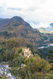 Top view of Hohenschwangau castle Stock Photo