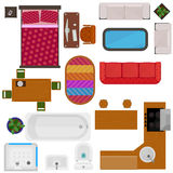 Top View Of Home Furniture Stock Images