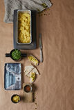 A top view of home-made jewish humus Royalty Free Stock Photo