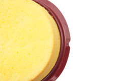 Top view home made round sponge cake with clipping path and copy space Stock Photo