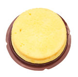 Top view home made round sponge cake with clipping path Stock Image