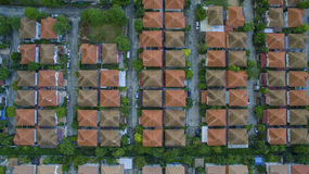 Top view of home village roof in land management bangkok thailan Royalty Free Stock Photography