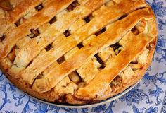Top view of homemade apple pie Royalty Free Stock Images