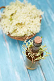 Top view of homemade elderflower syrup Royalty Free Stock Photo