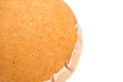 Top view homemade golden bread with clipping path Royalty Free Stock Photo