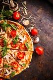 Homemade Italian pizza royalty free stock images