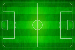 Top view of horizontal line soccer field, Football stadium. Royalty Free Stock Photography