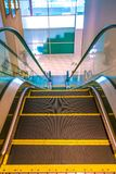 Top View Of Hospital Escalator. Automatic Stairs For Comfortable Patients And Relative Convenient Stock Photos