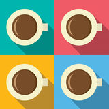 Top View Of Hot Coffee Mug Stock Photos