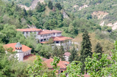 Top view of houses, Melnik, Bulgaria Royalty Free Stock Photography