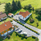 Top view at houses Royalty Free Stock Image