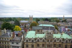 Top view on houses in Oxford Royalty Free Stock Photo