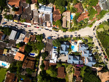 Top View of Houses in Sao Sebastiao, Brazil Stock Image