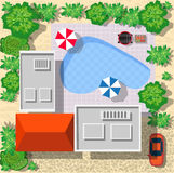 Top view of houses Royalty Free Stock Images