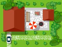 Top view of houses Royalty Free Stock Photography