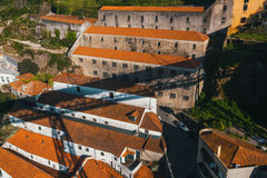 Top view of the houses Villa Gaia de Nova from the Dom Luis I iron Bridge, Porto Stock Photography