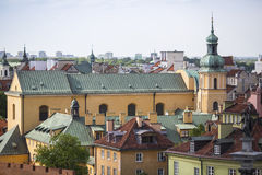 Top view of the houses in Warsaw historic centre Royalty Free Stock Photography