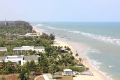 Top view of hua hin beach, Thailand Stock Image